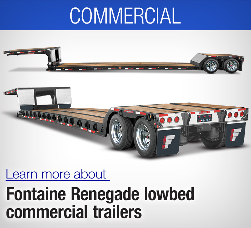 lowboy commercial trailers, renegade trailers