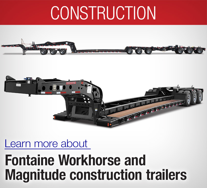 lowboy construction trailers, lowbed magnitude and workhorse