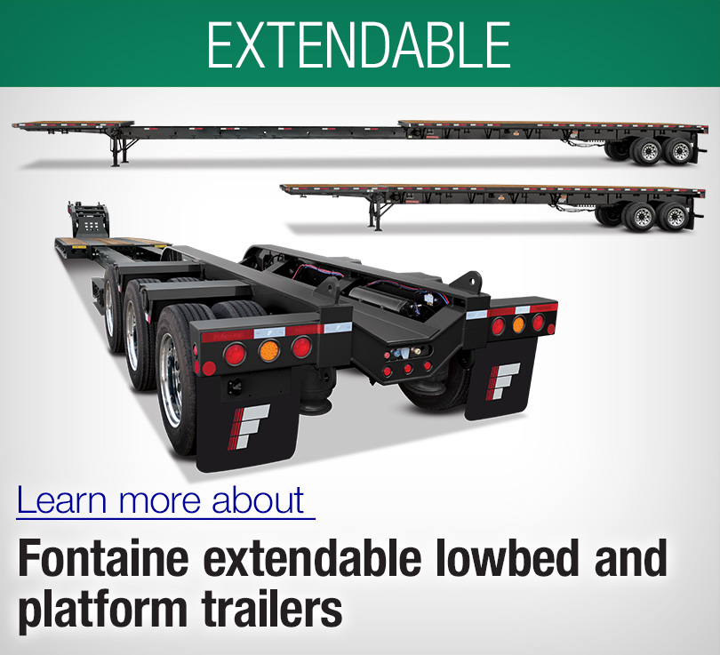 extendable flatbed flatdeck and lowboy trailers, xcaliber, magnitude, renegade
