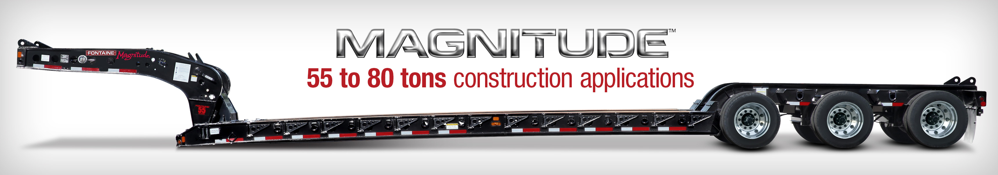 Fontaine Heavy-Haul Magnitude lowboy trailers for construction industry