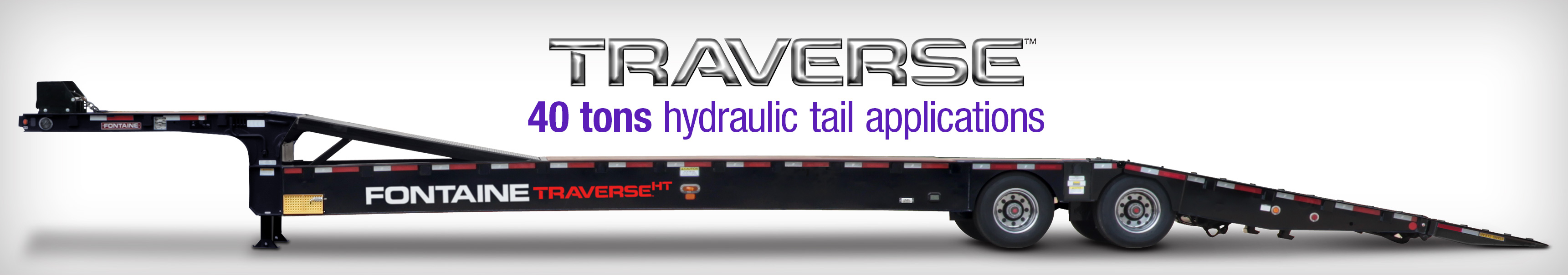 Fontaine Heavy Haul Hydraulic Tail Traverse Trailers