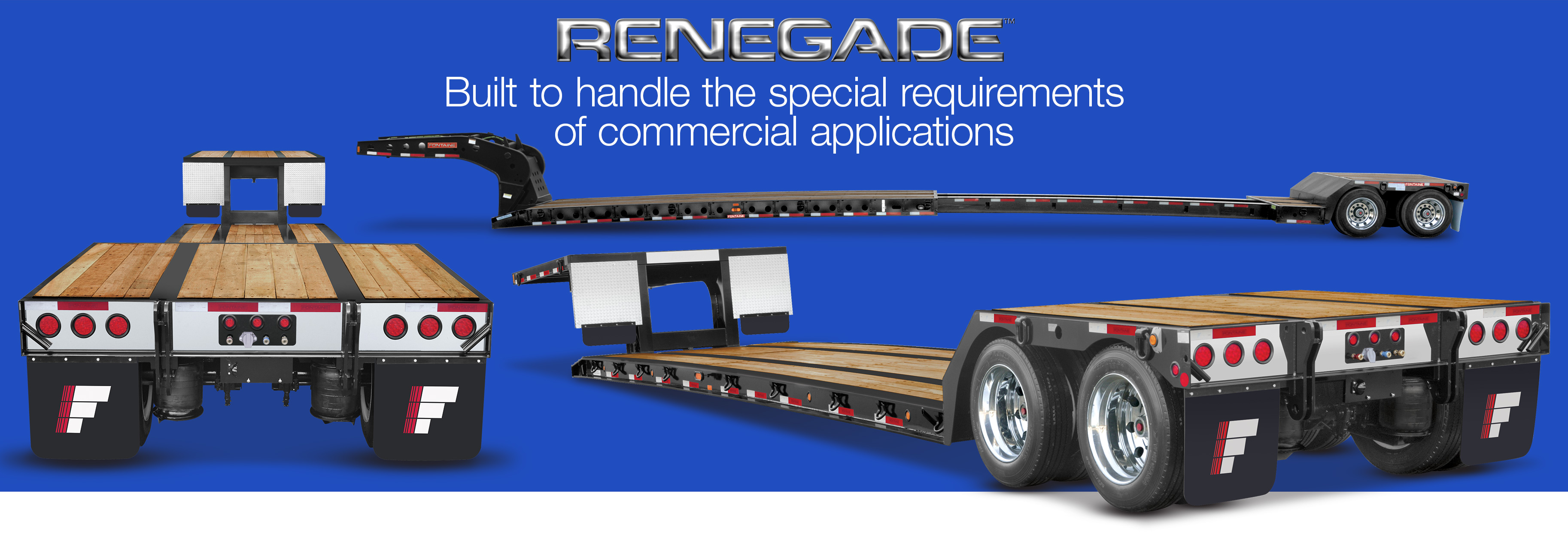 Renegade lowbed trailers manufactured by Fontaine Heavy Haul